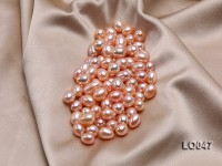 10*13mm Drop-shaped Pink Freshwater Loose Pearl