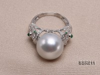 Luxury AAA 14mm Shiny White South Sea Pearl Ring