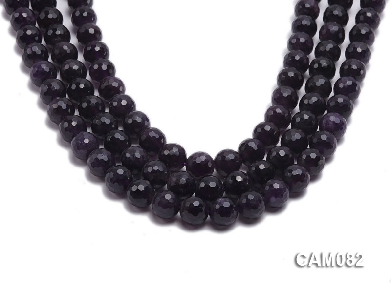 Wholesale 12mm Round Faceted Amethyst Beads Loose string