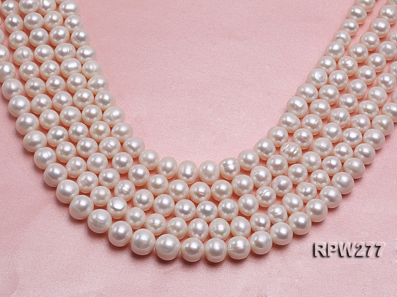 Wholesale 13-16mm Classic White Round Freshwater Pearl String