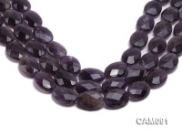 Wholesale 9x18x24mm Oval Faceted Amethyst Beads Loose string