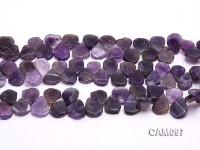 Wholesale 4x16x19mm Drop-shaped Amethyst Loose string