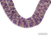 Wholesale 6x8mm Wheel-shaped Faceted Ametrine Beads Loose String