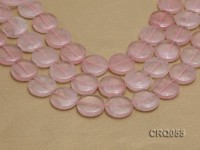 Wholesale 30mm Button-shaped Rose Quartz Beads String