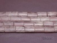 Wholesale 18x26mm Rectangular Rose Quartz Pieces String