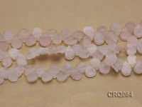 Wholesale 11x15mm Drop-shaped Rose Quartz Pieces String