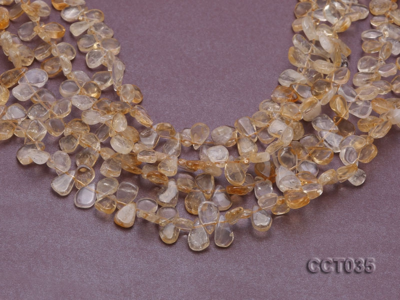 Wholesale 8x10mm mm Drop-shaped Citrine Pieces Loose String
