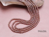 Three-strand Selected 4×5.5mm Lavender Cultured Freshwater Pearl Necklace