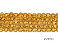 Wholesale 10mm Button-shaped Citrine Beads Loose String