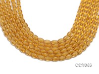 Wholesale 6x9mm Oval Citrine Beads Loose String
