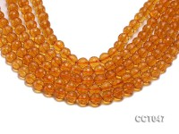 Wholesale 10.5mm Round Faceted Citrine Beads Loose String