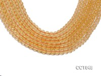 Wholesale 6mm Round Faceted Citrine Beads Loose String