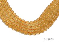 Wholesale 10mm Round Faceted Citrine Beads Loose String