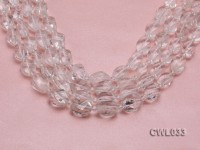 Wholesale 11x16mm Baroque Faceted Rock Crystal Beads Loose String