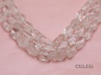 Wholesale 11x20mm Baroque Faceted Rock Crystal Beads Loose String