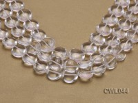 Wholesale 18mm Heart-shaped Rock Crystal Beads Loose String
