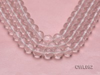 Wholesale 16mm Round Faceted Rock Crystal Beads Loose String