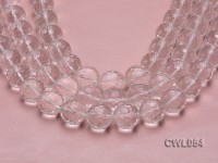 Wholesale 20mm Round Faceted Rock Crystal Beads Loose String