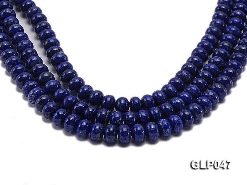 Wholesale 10x12mm Wheel-shaped Lapis Lazuli Beads Loose String