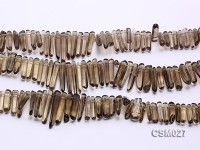 Wholesale 6×15-8x40mm Smoky Quartz Sticks Loose String