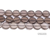 Wholesale 16mm Button-shaped Smoky Quartz Beads Loose String