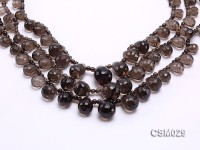 Wholesale 7×10-15x20mm Drop-shaped Faceted Smoky Quartz Beads Loose String
