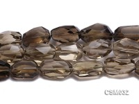 Wholesale 22x36mm Irregular Faceted Smoky Quartz Pieces Loose String