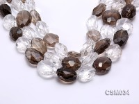 Wholesale 17x23mm Irregular Faceted Smoky Quartz Pieces Loose String