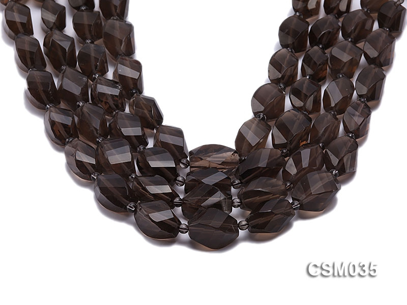 Wholesale 12x20mm Irregular Faceted Smoky Quartz Pieces Loose String
