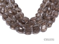 Wholesale 16x20mm Irregular Faceted Smoky Quartz Pieces Loose String