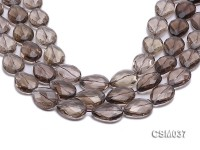 Wholesale 18x24mm Drop-shaped Faceted Smoky Quartz Beads Loose String