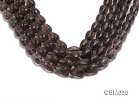 Wholesale 12x18mm Drop-shaped Faceted Smoky Quartz Beads Loose String