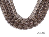 Wholesale 11x16mm Oval Faceted Smoky Quartz Beads Loose String
