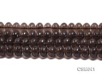 Wholesale 10x14mm Wheel-shaped Faceted Smoky Quartz Beads Loose String