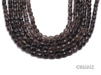 Wholesale 6x8mm Oval Faceted Smoky Quartz Beads Loose String