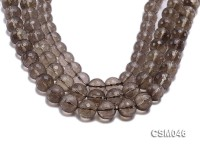 Wholesale 14mm Round Faceted Smoky Quartz Beads Loose String