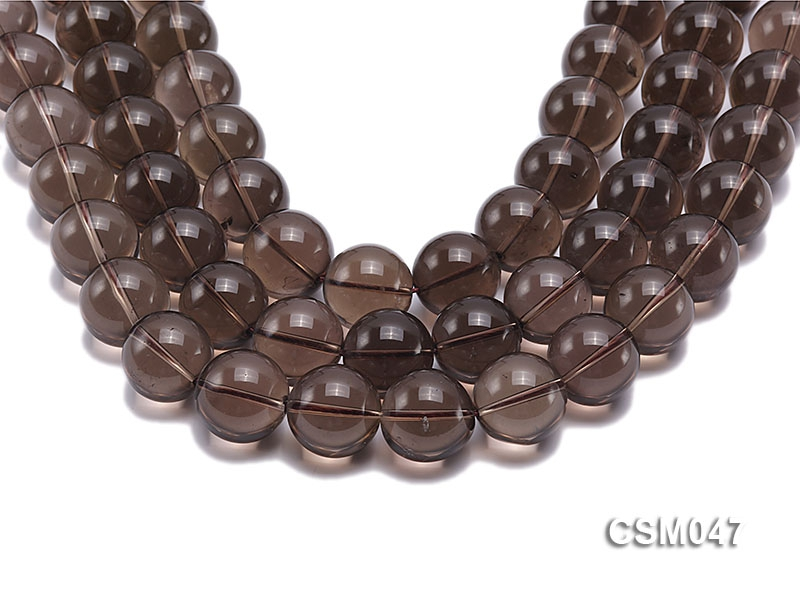 Wholesale 20mm Round Smoky Quartz Beads Loose String