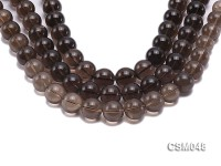 Wholesale 17mm Round Smoky Quartz Beads Loose String