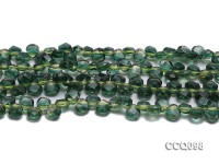 Wholesale 7x8mm Drop-shaped Green Faceted Synthetic Quartz Beads Loose String