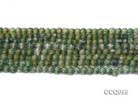Wholesale 5mm Round Green Faceted Synthetic Quartz Beads Loose String