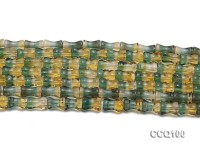 Wholesale 6x10mm Irregular Yellow & Green Synthetic Quartz Beads Loose String