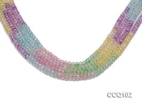 Wholesale 6.5mm Colorful Synthetic Quartz Beads Loose String