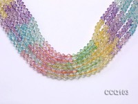 Wholesale 6.5mm Colorful Faceted Synthetic Quartz Beads Loose String