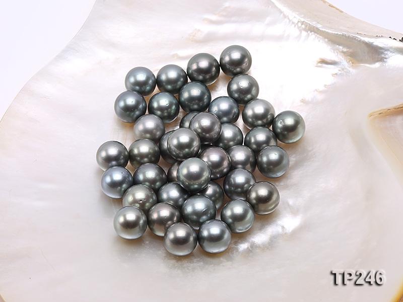 12-13mm Black Round Loose Tahitian Pearls