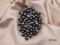 10-11mm Black Round Loose Tahitian Pearls