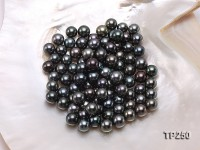 9-10mm Black Round Loose Tahitian Pearls