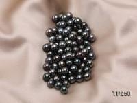 9-10mm Black Round Loose Tahitian Pearls
