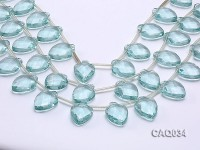 Wholesale 18x25mm Faceted Simulated Aquamarine Pieces Loose String