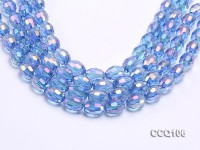 Wholesale 12x15mm Blue Rice-shaped Faceted Synthetic Quartz Beads Loose String