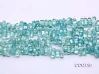 Wholesale 6x9x12mm Blue Synthetic Quartz Chips Loose String